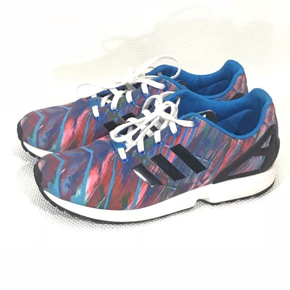 adidas Shoes - Adidas ZX flux Torsion Blue Pink sz 7 dda7ad75d